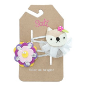 Sati Apple Fairy with Squirrel & Flower Hair Clips for Girls
