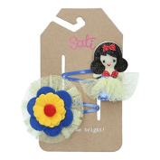 Sati Apple Fairy with Bella & Flower Hair Clips for Girls