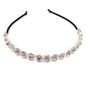 Rhinestone Crystal Fashion Headband Hair Band Headpiece for Lady Bride Bridesmaid