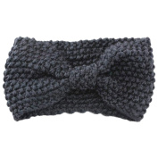 Jesica Bow Turban Knitted Headwrap Hair Band Headband for Women
