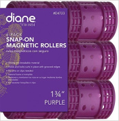 Diane Snap On Magnetic Roller, Purple, 4.4cm , 6/bag by Diane