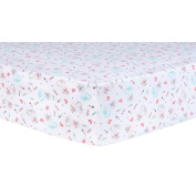 Trend Lab Fox and Flowers Fitted Crib Sheet, Multi