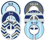 Mumsy Goose Baby Nursery Closet Dividers, Closet Organisers, Nursery Decor, Baby Boy Blue Grey Clothes Sizers