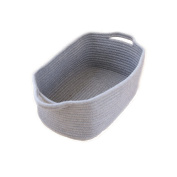 Canvos Cotton Rope Storage Baskets with Handles,Home Decor addition for Toy Storage, Blankets, Laundry,Games etc.