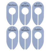 Caydo 6 Pieces Baby Closet Dividers Baby Boy Girl Clothing Rack Size Dividers, Set of 6 Size Newborn to Toddler