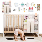 Baby Nappy Organiser, Nursery Organiser, Nappy Caddy for Baby's Essentials By Sportsvoutdoors