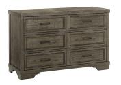 Westwood Design Foundry 6 Drawer Dresser, Brushed Pewter
