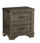 Westwood Design Foundry 2 Drawer Nightstand, Brushed Pewter