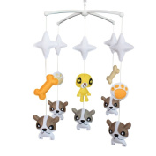 [Cute Dogs]Crib Decoration Musical Mobile, Exquisite Hanging Toy