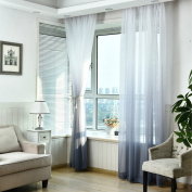 Window Curtain, Panels, Gradient Colour Tulle Sheer Door Window Screening Curtain Drape Scarf Sheer by TTnight