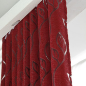 Window Curtain, Floral Half Shading Cirrus Vine Leaf Partition French Window Curtain by TTnight, 78.74