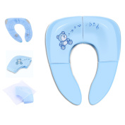 Travel Potty Seat, Travel Folding Portable & Reusable Toilet Potty Seat for Baby Potty Training Seat with Carry Bag