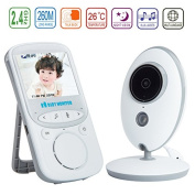 Discoball Video Baby Monitor with Camera 6.1cm Colour LCD Display VOX Mode 2.4 GHz For Signal Transmission / Two-way Talk / Night Vision / 8 Lullabies / Temperature Monitoring for Baby/Old/Pet