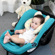 PERRY MACKIN CERTIFIED ORGANIC COVERED BABY HEAD SUPPORT PILLOW FOR CAR SEAT, STROLLER