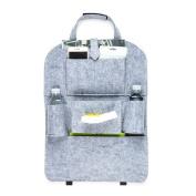 WINOMO Car Backseat Organiser Felt Car Back Seat Travel Storage Bag for Book Pad Drink