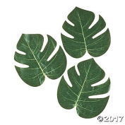 Real Looking Artificial Plant Leaves - Pack of 30   Green Monstera Palm Leaves   Tropical Party Decorations   Hawaiian Decorations   Luau Safari Party Supplies   Jungle-Beach-Birthday Theme   3 Sizes