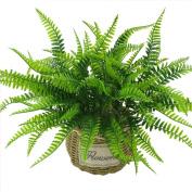 Artificial Plants ,Sunvy 4pcs Artificial Shrubs Grass Persian Leaves Plants Perfect For Home Garden Office Floor Restaurant Wedding Decoration