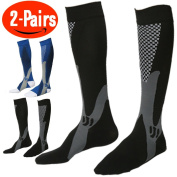Compression Socks for Men ,(Pair Of 2) Running Socks ,Sport Socks for Running, Nurses,Shin Splints,Flight Travel, & Maternity Pregnancy.Boost Stamina, (L/XL ( adult8-15.5 / Men 8-14) by ANGELGG