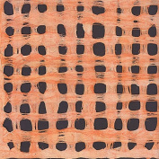 Amate Bark Paper from Mexico- Weave Naranja Orange 39cm x 60cm Sheet