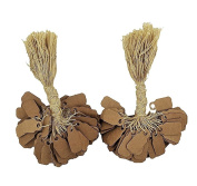 "200 Pcs of Kraft Paper String Tags, Price Tags, Elegant Jewellery String Tags perfect for Gifts or Business (7/8"" x 3/8"""