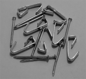 100 Pack Of 9.1kg Zinc Plated Steel Picture Hangers With Nails