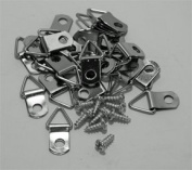 100 Pack Of Nickel Plated Triangle Hangers With Screws