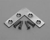 12 Pack L Type Flat Zinc Plated Steel Corner Braces Angle Brackets 3.8cm x 3.8cm With 1.3cm x 4 Screws