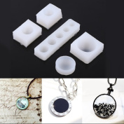 Yalulu 5Pc/set Creative DIY 1cm-3cm Half Round Cabochon Resin Silicone Moulds For Epoxy Resin Jewellery Making Mould