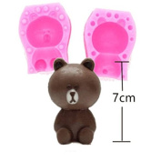 3D Cute Bear Craft Art Silicone Soap mould Craft Moulds DIY Handmade Candle mould Chocolate Mould moulds