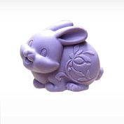 3D Cute Rabbit Craft Art Silicone Soap mould Craft Moulds DIY Handmade Candle mould Chocolate Mould moulds