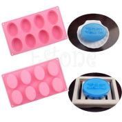 Oval Silicone Chocolate Cake Cookie Cupcake Soap Moulds Mould