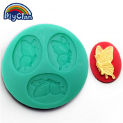 Diyclan silica gel mould mini resin flower polymer clay sugar candy fondant mould butterfly soap flakes bakeware F0399HD35