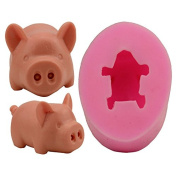 New Creative 3D Pig Shape Soap Mould Candle Mould Craft Mould DIY Creative Handmade Silicone Soap Making Tool