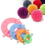 CAMMITEVER 4 Sizes Easy Wrap Pompom Pom-pom Maker Fluff Ball Weaver DIY Wool Knitting Needle Craft Craft Tool Kit Set