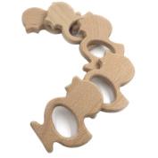 Wendysun 5pcs Handmade Beech Wooden Little Duck Pendent Organic Hand Cut Wooden Toy DIY Jewellery Making Accessories