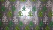 Trim A Home Festive Christmas Wrapping Paper 12 YD x 0.8m 8.4sqm 1 Roll Silver Green & White Christmas Tree's Wrapping Paper