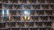 Trim A Home Festive Christmas Wrapping Paper 3.33 YD x 0.8m 2.3sqm 1 Roll Of Foil Snowman & Outdoor Winter Animals Wrapping Paper