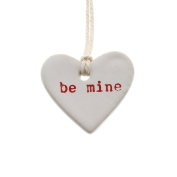 Heart Shaped Ceramic Gift Tag Label Set 6 | Romantic Be Mine Love Valentine