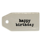 Happy Birthday Gift Tag Label Set 6 | Hanger Reusable Wine Bottle