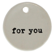 For You Round Gift Tag Label Set 6 | Hanger Present Ceramic Reusable