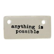 Anything is Possible Ceramic Tag Label Set 6 | Gift Reusable Inspirational