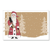 Woodland Santa Enclosure Cards / Gift Tags - 3 1/2 x 2 1/4