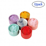 Adecco 12 PCS Random Colour Round Shape Cutely Small Gift Box for Ring Earrings Jewellery