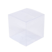 ZOOYOO Transparent Gift Box/Clear Plastic Box for Party favours, Weddings, Packaging - Rectangle 2in2in2in - 50pcs