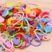 200Pcs Wholesale Colourful Knitting Stitch Markers Crochet Locking Tool Craft Ring Holder by HittecH