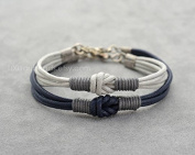 Couples Bracelet, Love Knot Long distance Bracelet Set, Simple Everyday Bracelet, Her His Bracelet, Matching bracelets, Couples gift