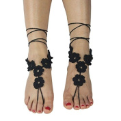 BoTen Crochet Braided Anklet Toe Ring Anklet SEXY Fashion Accessory