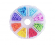 1 Box Multi-Coloured Plastic Buckle Markers Stitch - Sweater Knitting Tool Knitting Crochet DIY Handmade Material Counter