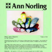 Ann Norling Pattern #16B Mary Jane Slippers
