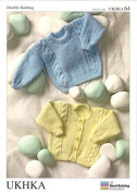UKHKA Baby Cardigan & Sweater Knitting Pattern No 64 DK - each